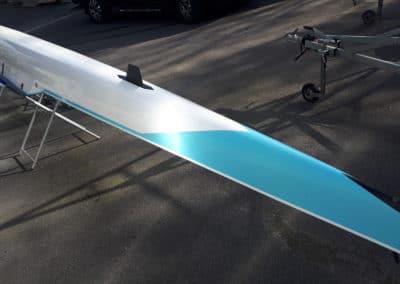 2-/2x fibre blanc et bleu – Porteur 80-90 kg