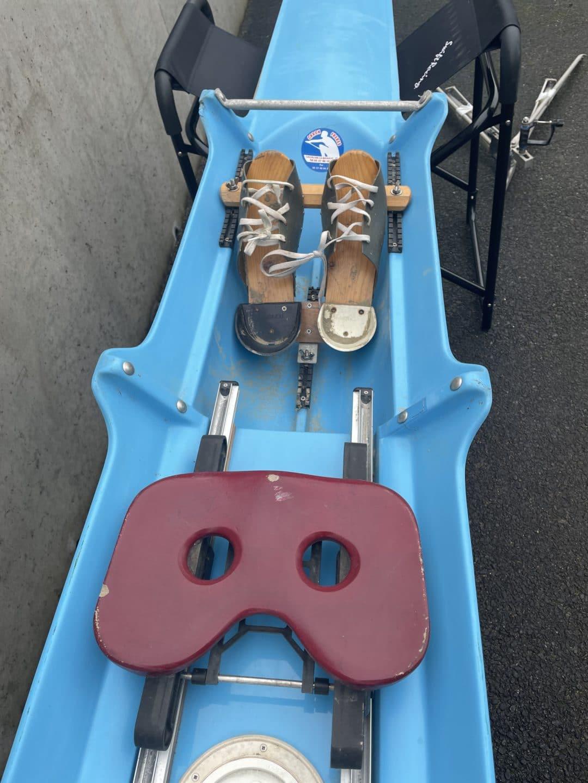1x caron skiff bleu blanc polyethylene 65-75kg