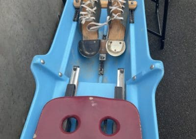 Skiff 1x CARON bleu/blanc – porteur 65-75kg