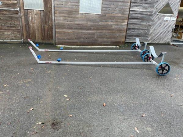Chariot de mise a l'eau coastal aviron de mer 1x solo 2x double