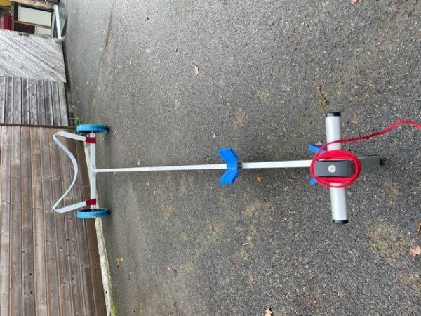 Chariot de mise a l'eau coastal aviron de mer 1x solo