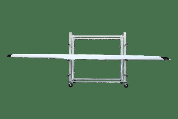 Rack à bateau d'aviron double côté acier galvanisé