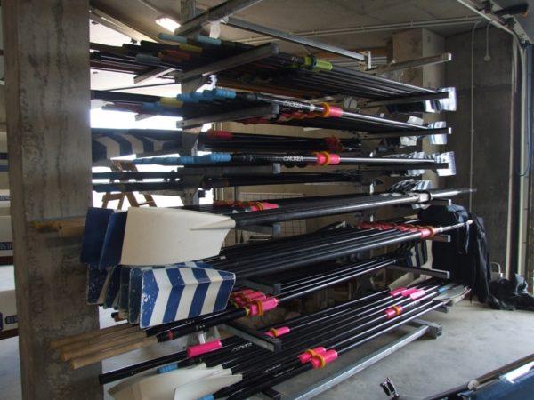 Rack horizontal à avirons acier galvanisé