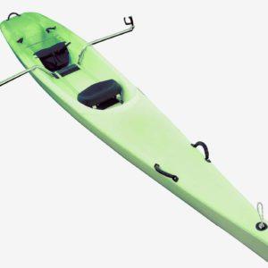bateau vert détouré aviron first evo evolution decouverte rtm polyethylene