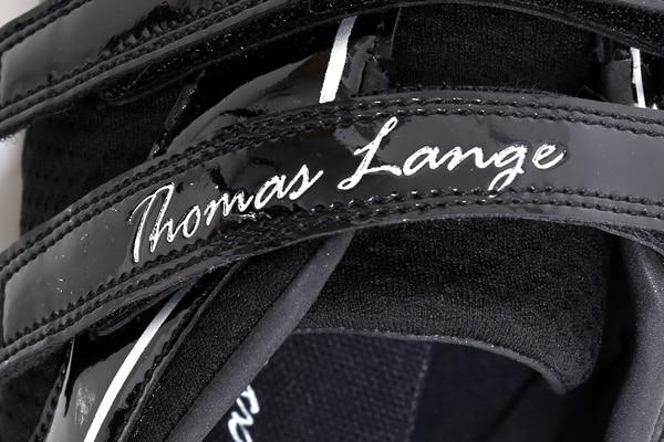 chaussures aviron thomas lange scratch velcro detail