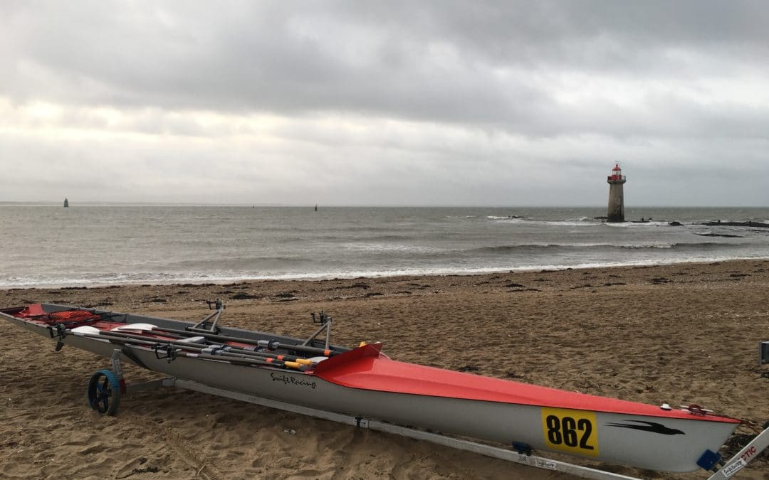 NEUF : Double d'aviron de mer 2x SWIFT RACING – gris