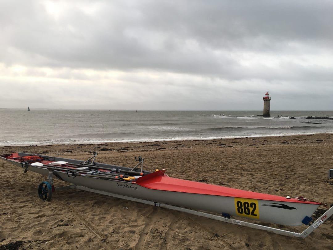 double d'aviron de mer 2x Swift Racing gris