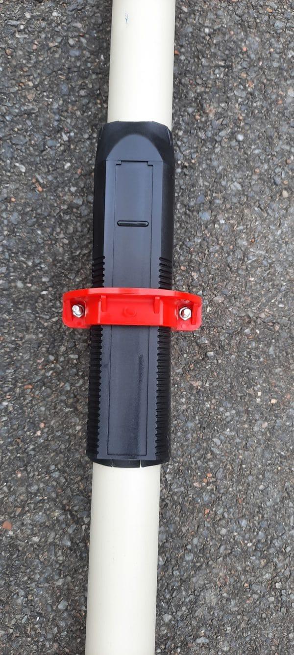 aviron tube aluminium collier reglable manchon